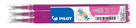 Pilot FriXion Ball 07 Náplň sada 3 ks - růžová