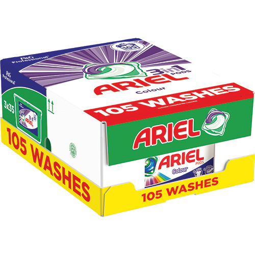Ariel gelové kapsle 3v1 - XXL Mega Pack 105 ks