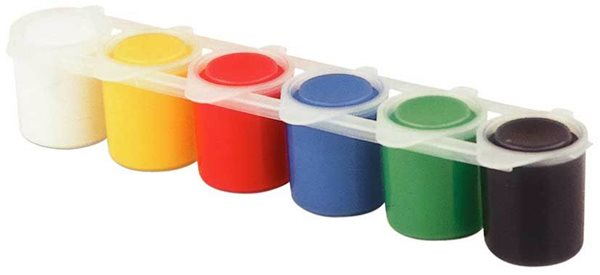 Primo Barvy prstové 6×25 ml, v kelímku, Sleva 20%