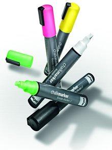 Sigel Křídové popisovače na vodní bázi sada - fluorescenční růžová, žlutá a zelená