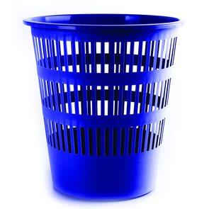Donau Odpadkový koš perforovaný PP 12L - modrý