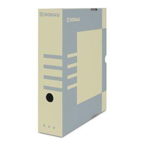 Donau Archivační box A4 80mm lepenka - hnědý