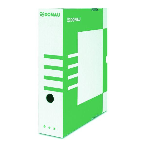 Donau Archivační box A4 80mm lepenka - zelený