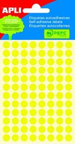 Apli Samolepící etikety v sáčku 8 mm - žluté