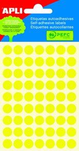 Apli Samolepící etikety v sáčku 10 mm - žluté