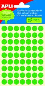 APLI Samolepicí etikety v sáčku 10 mm - zelené
