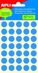 APLI Samolepicí etikety v sáčku 13 mm - modré