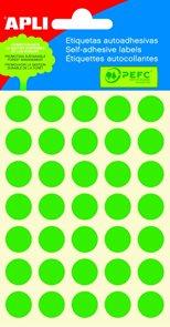 APLI Samolepicí etikety v sáčku 13 mm - zelená