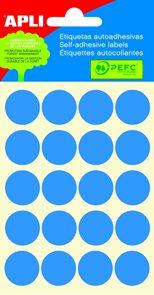 APLI Samolepicí etikety v sáčku 19 mm - modré