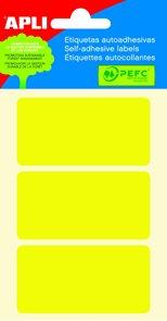 Apli Samolepící etikety v sáčku 34x67 mm - žluté