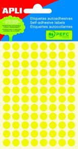 APLI Samolepicí etikety v sáčku 8 mm - žluté