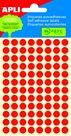 APLI Samolepicí etikety v sáčku 8 mm - červené