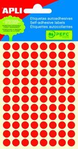 Apli Samolepící etikety v sáčku F 8 mm - červené