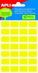Apli Samolepící etikety v sáčku F 12x18 mm - žluté