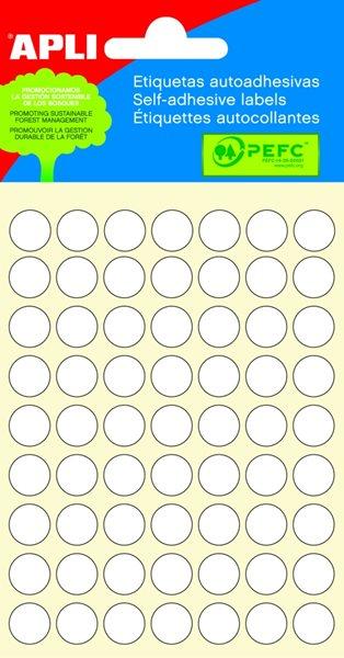 Apli Samolepící etikety v sáčku 10 mm - bílá
