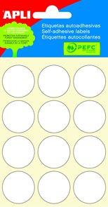 Apli Samolepící etikety v sáčku 20 mm - bílé