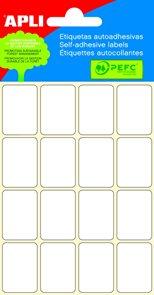 Apli Samolepící etikety v sáčku 19x27 mm - bílé