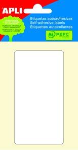 Apli Samolepící etikety v sáčku 53x100 mm - bílé
