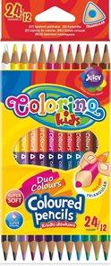 Oboustranné trojhranné pastelky Colorino - 24 barev / 12 pastelek