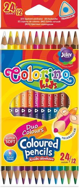 Trojhranné pastelky Colorino - 24 barev / 12 pastelek