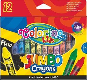 Voskovky Colorino JUMBO - 12 barev + stojánek