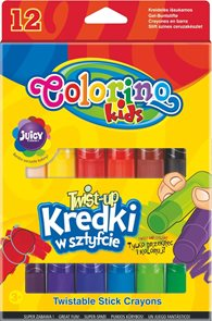 Voskovky silky TWIST-UP - 12 barev