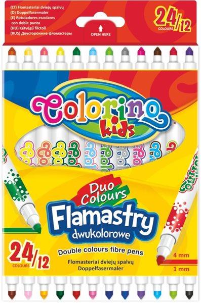 Fixy Colorino oboustranné - 12 ks/ 24 barev