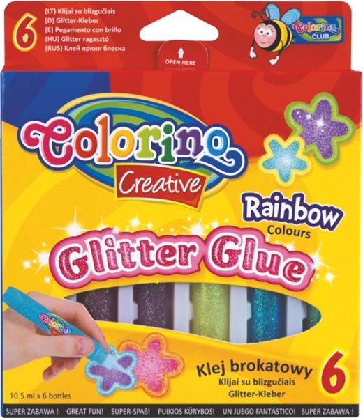 Dekorativní lepící popisovač - 6 barev - duhové