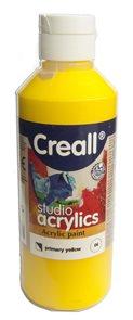 Akrylová barva Creall 250 ml - základní žlutá