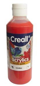 Akrylová barva Creall 250 ml - rumělková