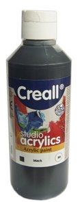 Akrylová barva Creall 250 ml - černá