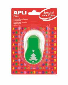 APLI Děrovačka na papír i pěnovku - vánoční stromek - 25,4 mm