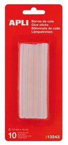 Tavné tyčinky APLI - 7,5 mm x 10 cm - 10 ks