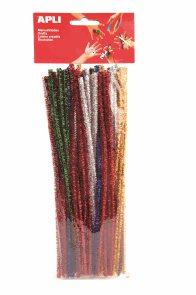 APLI Modelovací drátky třpytivé - barevný mix - 50 ks