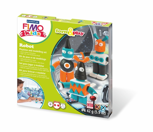 Sada FIMO Kids Form & Play - Roboti