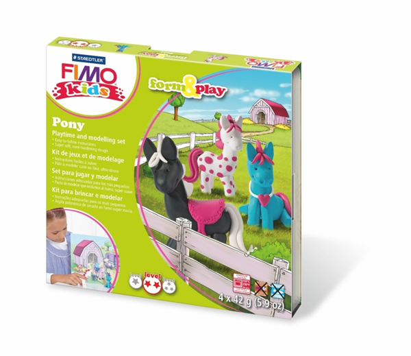 Sada FIMO Kids Form & Play - Poníci