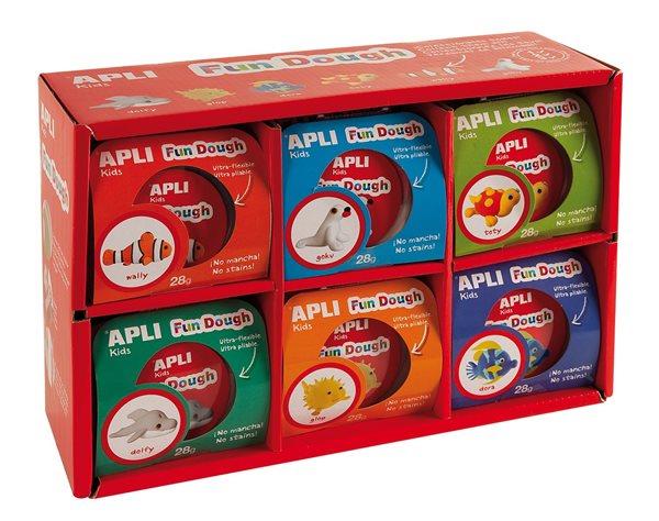 Modelovací hmota APLI Fun Dough - 12 × 28 g
