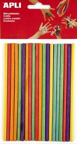 Špejle APLI - barevný mix - 25 ks
