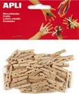 APLI Dřevěné kolíčky - přírodní - 45 ks