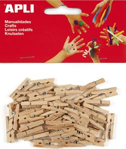Dřevěné kolíčky - přírodní - 45 ks