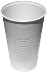 Kelímky 500 ml - plastové bílé ( 50ks )