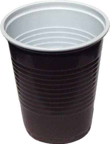 Kelímky 200 ml - na kávu hnědobílé ( 100ks )