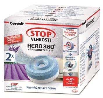 Ceresit Stop vlhkosti Aero 360 náhradní tablety 3v1 levandule