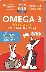 MaxiVita Kids Omega 3 + vitaminy D, E