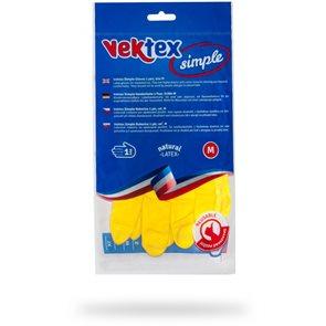 Vektex Simple úklidové latexové rukavice - velikost M