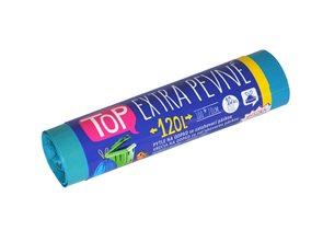 Pytle na odpad 120 L - modré ( 10 ks ) - extra pevné se zatahovací páskou