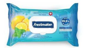 FRESHMAKER antibakteriální vlhčené ubrousky - 120KS