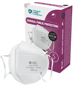 Respirátor General Public ochranné třídy FFP3 - 5 ks