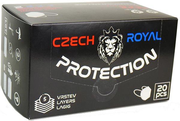 Respirátor Czech Royal Protection FFP2 - 20 ks - barva bílá, Sleva 40%