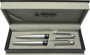 REGAL Dárková psací souprava Mercurius kuličkové pero + plnicí pero, stříbrná